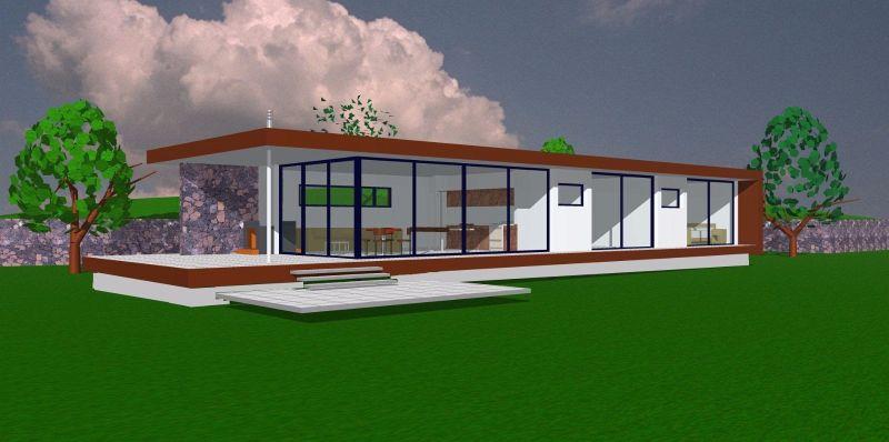 Interessantes Bauprojekt für 3 moderne Ferienbungalows im nordwesten von La Palma.